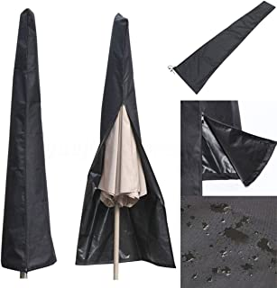 ALLOMN Outdoor Patio Umbrella Cover, Waterproof and UV Protection Fabric Parasol Cover for 9-11 Feet Garden Yard Balcony Umbrellas