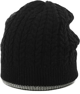 Jeff & Aimy Women's Wool Knit Slouch Beanie Hat Winter Warm Fashion Reversible