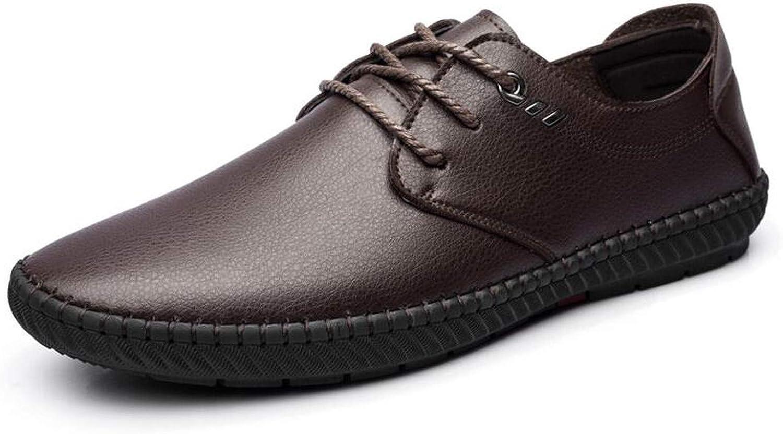 Mao YiE Mens Handmade Split Leather Men Flats Lace Up Men Loafers Men shoes Designer Footwear