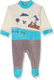 Papillon Stitched Detail Long Sleeves Snap Closure Bodysuit for Boys