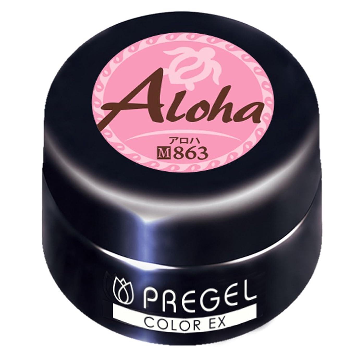 マーベル拘束する溶かすPRE GEL カラーEX アロハ863 3g UV/LED対応