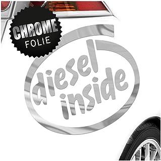 Kiwistar Diesel Inside 15 x 14 cm In 15 Farben   Neon + Chrom! JDM Sticker Aufkleber