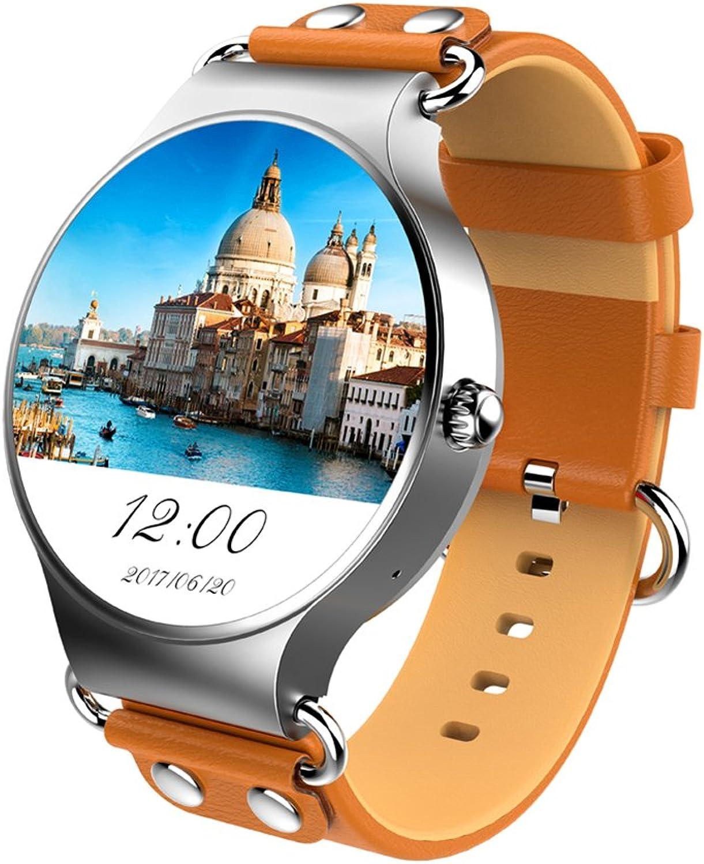 KINGWEAR KW98 1,39 Zoll HD Blautooth Smartwatch mit 3 Sensor Unterstützung SIM Karte SMS  Anruferanzeige WIFI GPS OS Online-Upgrade und viele Funktion Kompatibel für iOS und Android