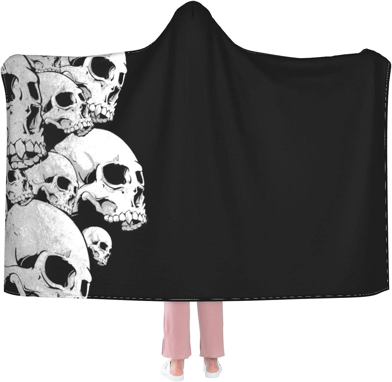 Throw Colorado Springs Mall BlankeRetro Skull Austin Mall Hoodie-Plush Warm Cosy Blanket L