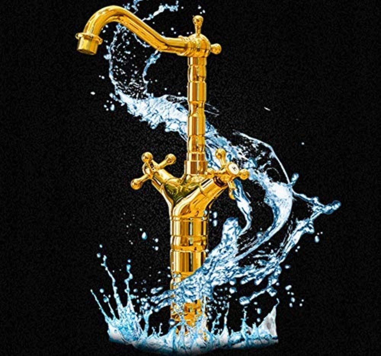 Basin Taps Swivel Spout Faucet Antique Faucet Basin Faucet Above Counter Basin Faucet Heightened gold Double Toilet Bathroom Faucet