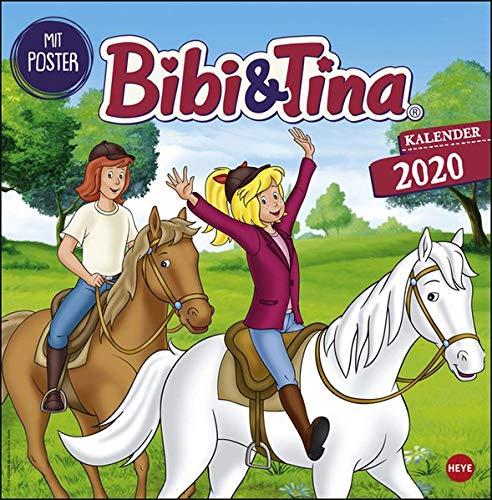 Bibi und Tina TV Broschurkalender. Wandkalender 2020. Monatskalendarium. geheftet. Format 29,5 x 30 cm