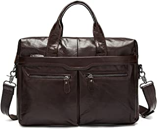 Men's Accessories Men's Messenger Vintage Large Satchel Shoulder Bag 14 Inch Computer Tablet Laptop Outdoor Recreation (Color : Brown)