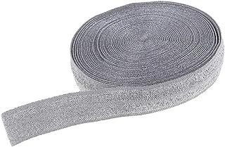 Gummilitze Glitzerband, 50 Yard Gummiband Glitzer Nähen 15mm breit