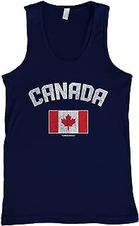 Threadrock Men's Canada Canadian Flag Tank Top