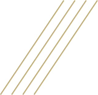 Sutemribor Brass Solid Round Rod Lathe Bar Stock, 1/8 Inch in Diameter 14 Inches in Length (4 PCS)