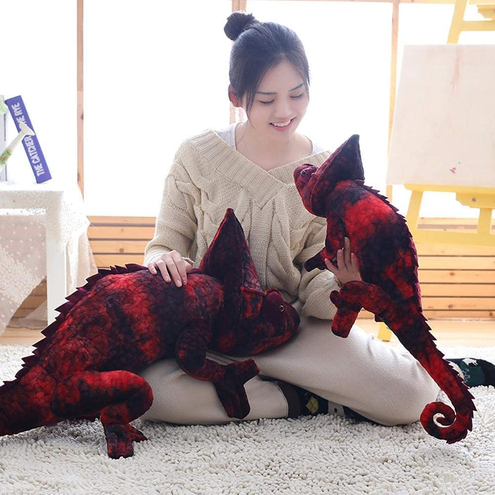 Soft Toy Christmas Birthday Room Decoration 28 Inches Animal Doll,Simulation Chameleon Animal Model Doll Lizard Dinosaur Doll Toy