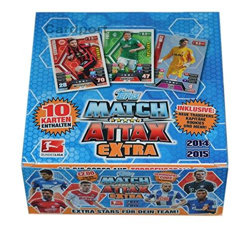 Topps701091 - Match Attax Extra Bundesliga 2014/2015 - Booster Display, 24 Packs - Deutsch