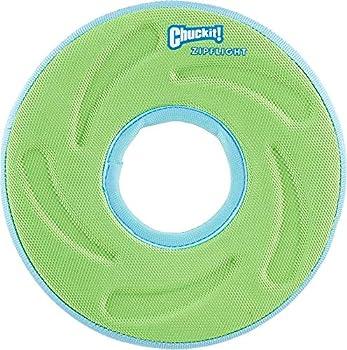 Chuckit Zipflight Frisbee Flottant/Planant un Jouet Polyvalent pour Chien Taille S, Couleurs Assorties