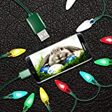 LED Easter Christmas Lights Micro USB Charging Cable, 2020 Upgraded USB and Bulb Charger 50inch 10LED Compatible with Galaxy S7 S6 Edge, Kindle, Android & Windows Phones, Xbox, PS4, MP3
