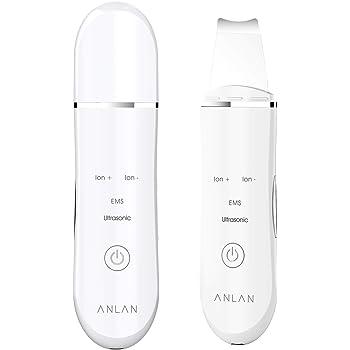ウォーターピーリング 超音波 美顔器 ANLAN 超音波ピーリング スマートピール 超音波振動 EMSマッサージ イオン導入 イオン導出 USB充電式 毛穴 黒ずみ ニキビ 角栓 角質 皮脂 汚れ除去 たるみ ほうれい線 むくみ 美肌