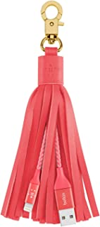 Belkin MIXIT Lightning to USB Leather Tassel with 7-Inch 2.4 Amp Lightning ChargeSync Cable for iPhone, iPad and iPod (Pink)