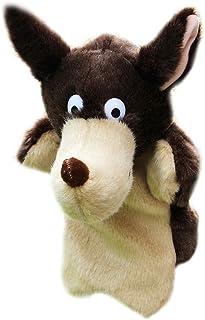 Ogquaton Lobo en Forma de Mano marioneta bebé niños niño muñeca Suave Juguetes de Peluche de Regalo Duradero y útil