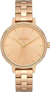 ساعة كلاسيكية نسائية من NIXON Medium Kensington A1260 - ذهبي - 50 متر مقاومة للماء (وجه ساعة 32 مم، سوار ستانلس ستيل)