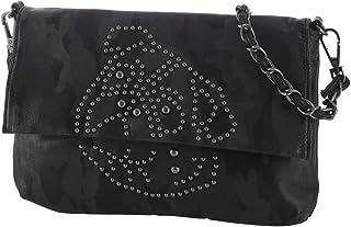 Mops Sir Henry 936 Überschlagtasche/Clutch schwarz