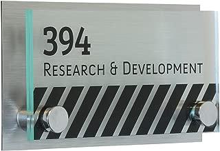 Displays2go 6 x 3 Inch Rectangular Door Sign, Acrylic Plates, Standoffs, Printable Film (RSIGN63MD)