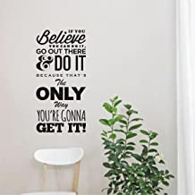 Rawpockets 'Do it Get it' Wall Sticker (PVC Vinyl, 58 cm x 28cm, Black)