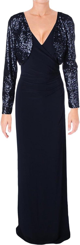 Lauren Ralph Lauren Womens Sequined Bolero Evening Dress