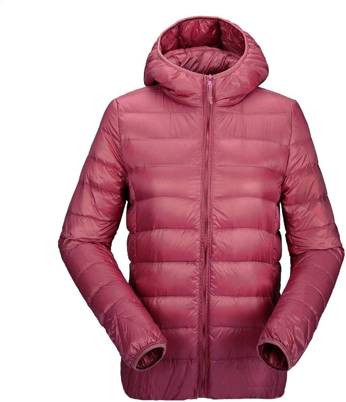 BiBOONES Women's UltraLight Down Jacket Hooded Winter Duck Down Jacket