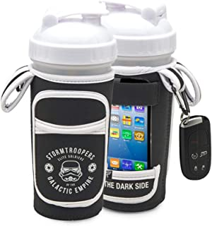 Performa Fitgo - Stormtrooper Shaker/Water Bottle Sleeve, All-in-one Shaker Cup Performance Organizer, Quick & Easy Access Your Work Out Essentials, Water Resistant and Durable