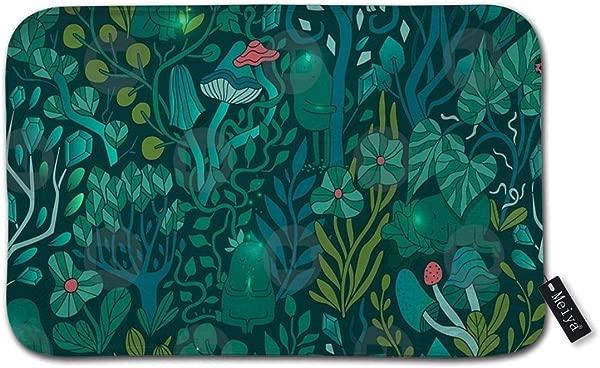 Yulian Ltd Emerald Forest Keepers Fairy Woodland Creatures Doormat Welcome Mat Entrance Mat Indoor Door Mats Floor Mat Non Slip Bathroom Rug Mat 15 7 X23 6