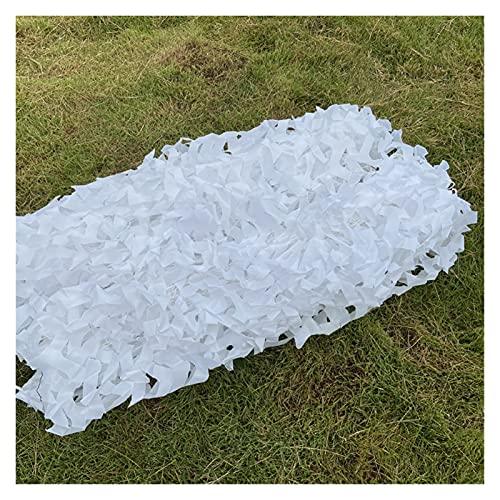 LXF JIAJU 3x2m 3x5m Caza De Camuflaje Nets Boodland Entrenamiento Camo Netting Cubiertas De Coches Tienda De Campaña Camping Sun Shelter (Color : White, Size : 3X8M)