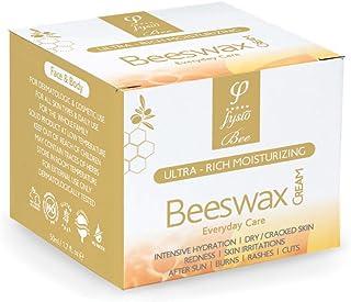 Bienenwachs Bio Feuchtigkeitscreme für Hände, Füße, Körper, Ellenbogen | Bekämpft Trockene Haut | Hautpflege bei Rosazea, Schuppenflechte, Neurodermitis, Eczema | 50ml