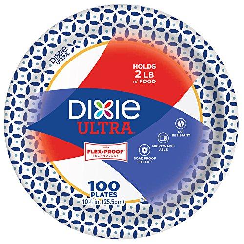 Dixie Ultra ZAZ Paper Plates, Heavyweight (10 1/16 186 Ultra Plates)
