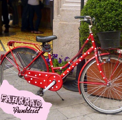 ilka parey wandtattoo-welt Fahrradaufkleber Set Punkte dots Fahrradsticker Aufkleber Fahrrad Design M681