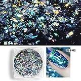 1 Box Aurora Chameleon Nail Glitter Pailletten Flocken 0,2g Holographische Glänzende Nailart Pulver Staub Dazzling Nail Dekorationen