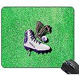 yyndw Alfombrilla Ratón Lacrosse Shoe Stick Máscara De Ojos Bola con Su Nombre Alfombrilla De Ratón para Juegos Alfombrilla De Goma Antideslizante Personalizada 25x30cm