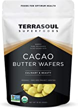 Terrasoul Superfoods Organic Cacao Butter Wafers, 1 Lb - Raw | Keto | Vegan | Unrefined