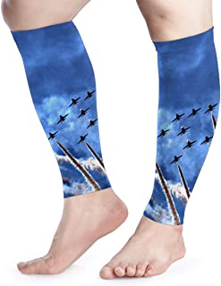 Calf Compression Sleeves US Air Force USAF-1 Leg Support Socks for Women Men 1 Pair