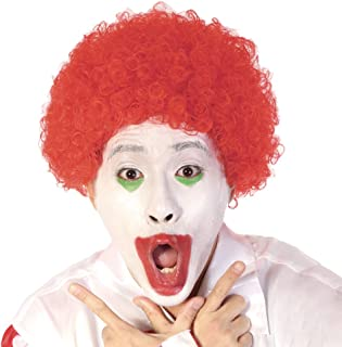 Red Short Clown Afro Wig - Curly 70s 80s Disco Cosplay Synthetic Hair 8