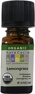 Organic Essential Oil-Lemongrass Aura Cacia .25 oz (7.4ml) Liquid