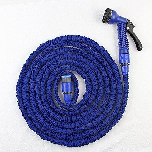 Flexible d'arrosage extensible ultra légère Waterspray Nozzle.-Bleu - 50 ft