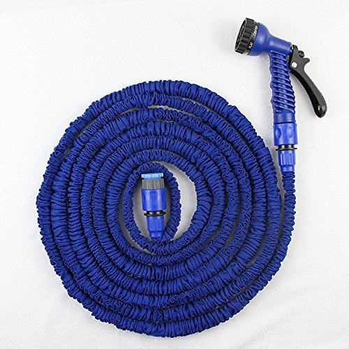 Flexible d'arrosage extensible ultra légère Waterspray Nozzle.-Bleu - 50 ft