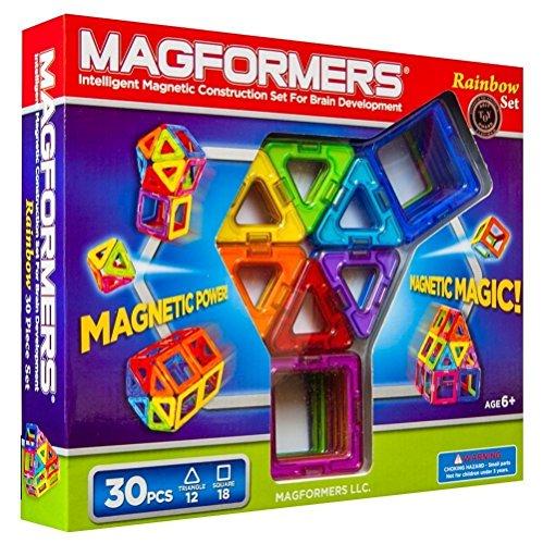 マグフォーマー 30ピース レインボーセット MAGFORMERS マグネットブロック 創造力を育てる知育玩具 【30ピ...