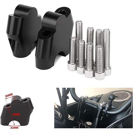 Motorrad Lenkererhöhung Verstellhalterungen Lenkerverlegung Aus Aluminium Zubehör Für Monster 659 696 795 1100 Schwarz Auto