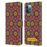 Head Case Designs Licenza Ufficiale Frida Kahlo Mandala Floreale Rosso Cover in Pelle a Portafoglio Compatibile con Apple iPhone 12 PRO Max