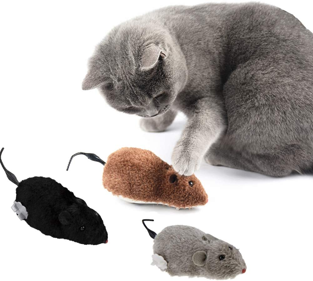 SEALEN Cat Dog Pet Clockwork Now on sale Mouse Plush Toys Up Max 70% OFF Wind Toy