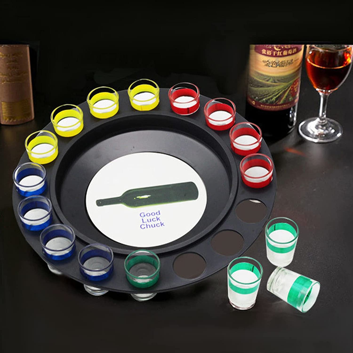 YZILXY Transparent Drinking Shot Roulette Game-Casino Glass Direct store Seattle Mall Styl