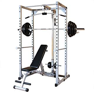 Body-Solid Powerline PPRPACK5 Power Rack Package with Rubber Grip Weights