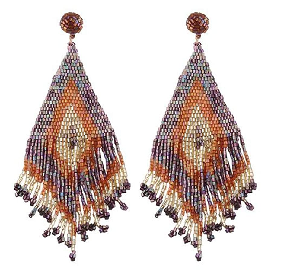 Beautiful Lady Geometric 5 Designs Beads Tassel Drop Earrings Girls Earring Wholesale Jewelries