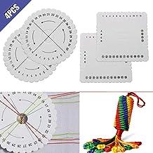 Comidox Round Square Kumihimo Beading Cord Disc Disk Braiding Plate Handmade DIY Bracelet Braided Weaving Board 4Pcs