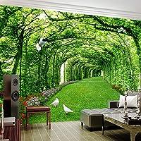 カスタム壁画壁紙3D緑の森の木の芝生鳩風景写真壁画リビングルーム, 300cm×210cm